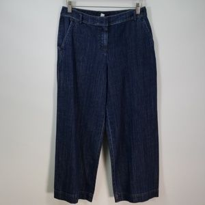 ST JOHN COLLECTION WIDE LEG STRETCH JEANS SIZE 4